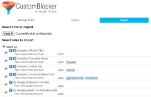 Configuration file for CustomBlocker